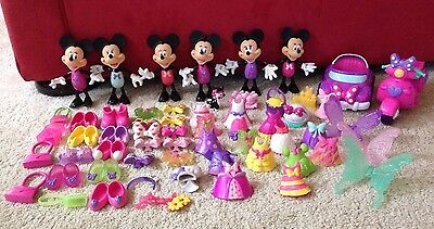 Minnie Mouse Bow-Tique Snap N Style 6 Dolls Clothing Accessories Car Scooter