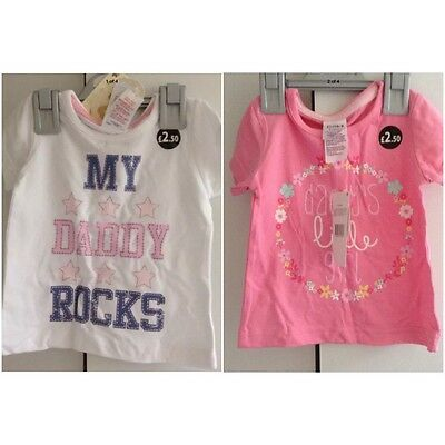 Baby Girl Short Sleeve Tops 9-12 Months