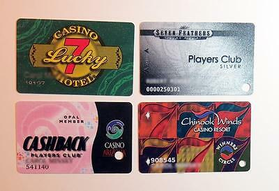 Slot Players Club Cards 4 Different Casinos Free Shipping