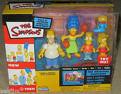 2003 Simpsons Playmates World of Springfield The Original Simpsons Now Then NEW