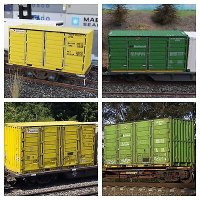 Ready to Run Australian Intermodal Castings 2x 20ft Containers