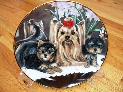Danbury Mint Yorkshire Terrier Mother's Pride Plate