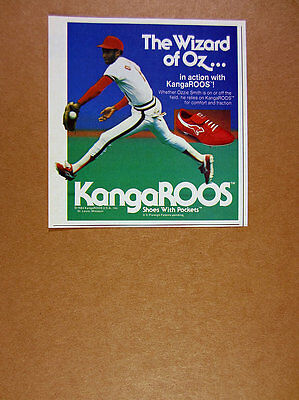 1984 Ozzie Smith photo KangaROOS baseball cleats shoes vintage print Ad