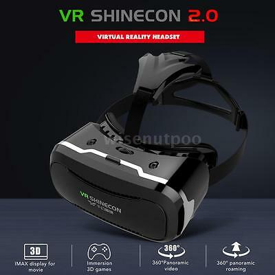 """VR Box SHINECON 2.0 Virtual Reality Glasses Movie Game Headset For Phone 4.7""""-6"""""""