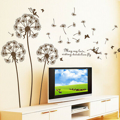 Home Room Decor Removable DIY Dandelion Art Vinyl Quote Wall Sticker Decal Mural