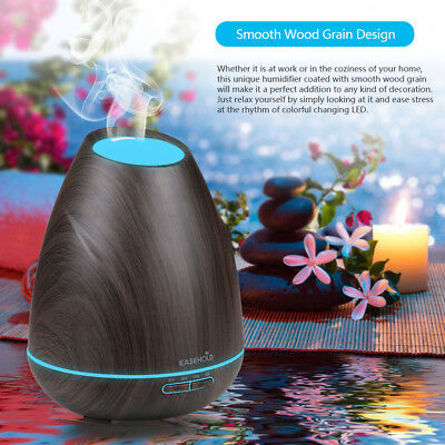 Easehold Oil Ultrasonic Humidifier Aroma LED Aromatherapy Diffuser Purifier【AU】