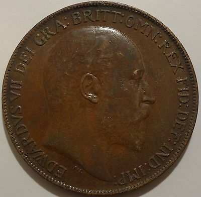 Better Great Britain One Penny 1908 bronze coin!