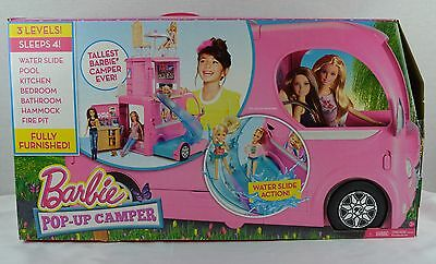 Barbie Doll Pop-Up Camper Vehicle RV House Play Barbie Set - NEW