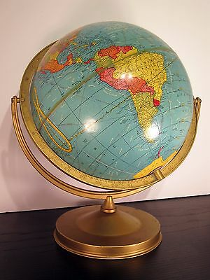 """10-1/2"""" CRAM'S Universal Terrestrial GLOBE perfect size for your upcycle project"""