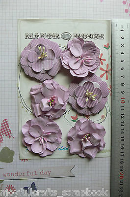 Flower 6 BERRY PINK Paper 2 ea 3 Styles 50-55cm Across Manor House