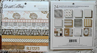 BLESSED Life EMPORIUM 6x6 TERESA COLLINS 12 designs Two-sided Paper 24 Sheets