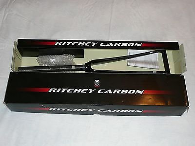 Ritchey Pro UD Carbon Fork 1-1/8, 43mm rake, Glossy Black, 300mm steerer.