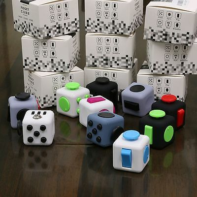 Magic Fidget Cube Anti-anxiety Adults Stress Relief Kids Toy (choose color)