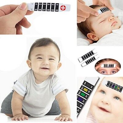 Forehead Thermometer Head Strip Fever Body Infant Child Kid Test Temperature
