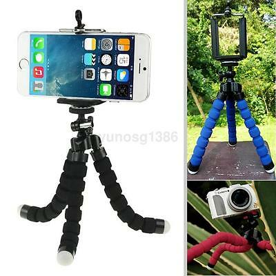 Portable Mini Flexible Octopus Tripod Stand Mount Holder Clip For Phone Camera Y