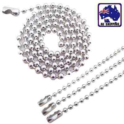 10pcs 2.4mm Stainless Steel Bradde Ball Bead Chain 10 20 55 60 70cm DIY JNEC455