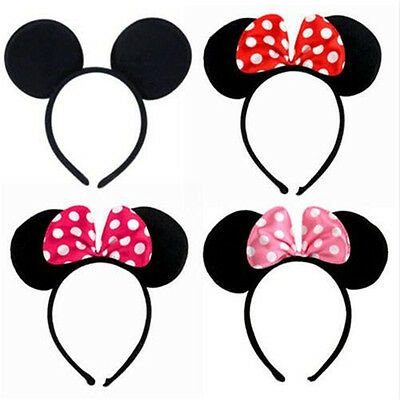 Mickeys Minnies Mouse Ears Bow Headband Hen Nights Women Girl Party Fancy