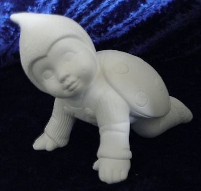 Ceramic Bisque Ready to Paint LadyBug Baby Crawling