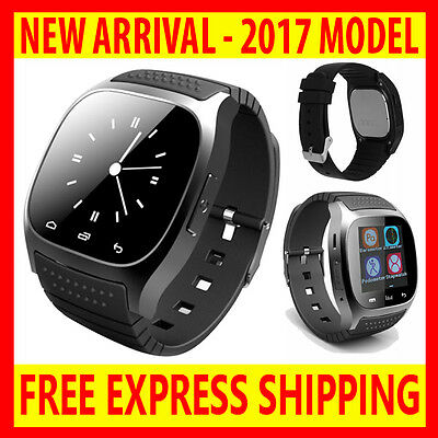 2017 M26 Touch Screen Smart Bluetooth Watch Android Phone Camera Fitness Tracker