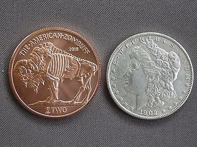 "2018 United States Morgan ""ZOMBUCKS"" Copper 999%  Dollar Coin"