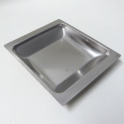Danish NORD STEEL stainless steel 18/8 square serving food tray/plate 70s retro