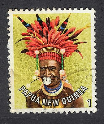 1977 Papua New Guinea  Man from Kundiawa 1t SG 318 Good Used R7626