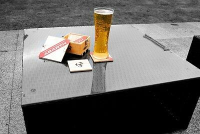 Abarth Wood Crate Design Coasters Beer Mats Coffee Mat New Genuine 59230785
