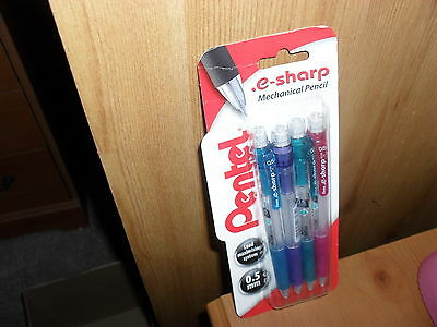 Pentel E-Sharp Mechanical Pencils 0.5mm  Pack of 4