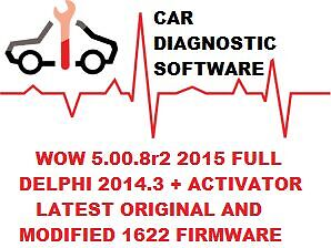 Diagnostic Software 2014 - 2015 For Cars and Trucks + 1622 firmware  ONLY ON DVD