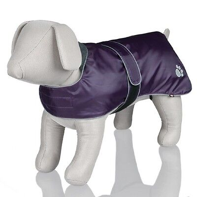 Trixie Orleans Dog / Puppy Winter Coat / Jacket Various Sizes Purple Reflective