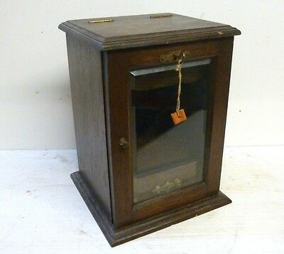 Antique Pipe Smokers Cabinet with Drawer & Key