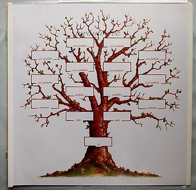 Creative Memories 12x12 White Family Tree Page Scrapbook with page protector