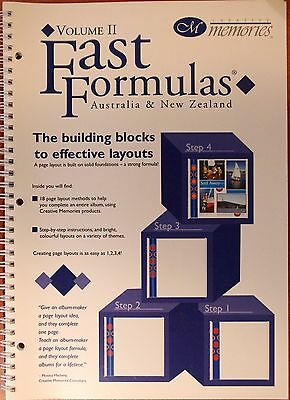 Creative Memories Fast Formulas Page Layout & Design Vol 2 Book