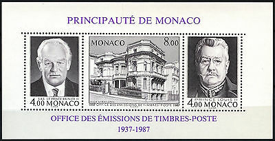 Monaco 1987 SG#MS1841 Stamp Issuing Office 50th Anniv MNH M/S #D40643