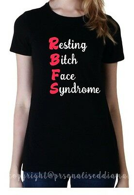RBF Resting Bitch Face black PLUS tshirt ladies novelty t shirt sister daughter