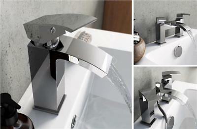 Cruse  Modern Chrome  Bath Filler Shower Basin Mixer Tap Bathroom Set