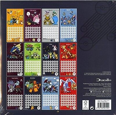 Pokemon Official 2017 Calendar - Square 305x305mm Wall Calendar 2017
