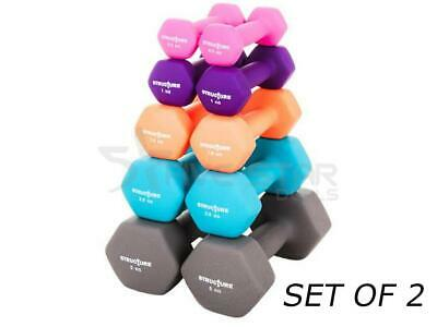 Neoprene Iron Dumbbells Hand Weights Training Home Gym Fitness Aerobic Exercise