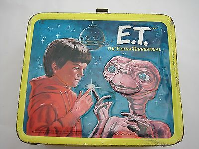 Vintage E.T. the Extra Terrestrial Lunch Box 1982 Aladdin with Thermos