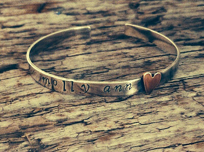 Child's Personalised Bangle Bracelet ~ present for baptism, christening