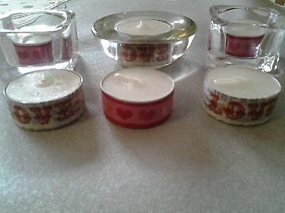Valentine's Special Themed Tealights × 6, Romance, Love, Hearts, Limited Edition