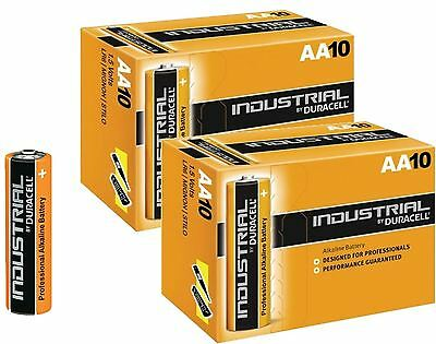 20 x Duracell Professional AA Batteries Industrial Alkaline 1.5V LR6 MN1500