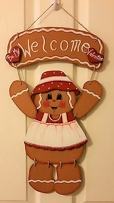 Hand Painted Seasonal Gingerbread Wall Hanging ONLY, OUTFITS SOLD SEPARATELY