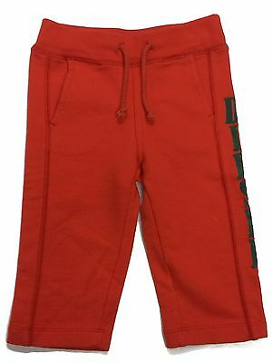 Baby Diesel Jogging Pants Boys Bottoms Orange Pilfect Age 9-12 Months NEW