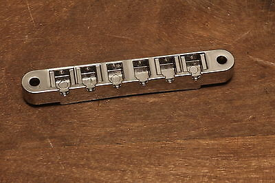 Gibson ABR-1 Nonwire USA Tune-o-Matic Bridge Base only Chrome plated