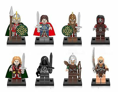8 Set Hobbit Lord Of The Rings Toy Theoden Figures Eomer Eowyn Mordor Orc Wraith