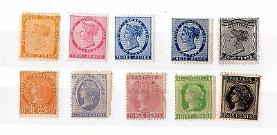 Canada Prince Edward Island QV 1860/70s Collection of 10 Mint X4892