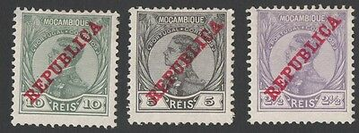Mozambique stamps. Republica Mocambique with overprint. MH