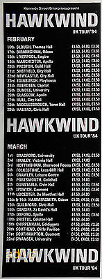 Hawkwind - Uk Tour '84, British Advert/ad 1984