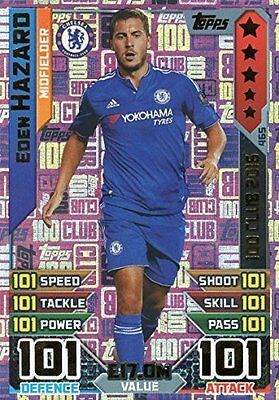 2016/17 Match Attax 100 Club Eden Hazard Hundred Club Legend Card 2016 #465
